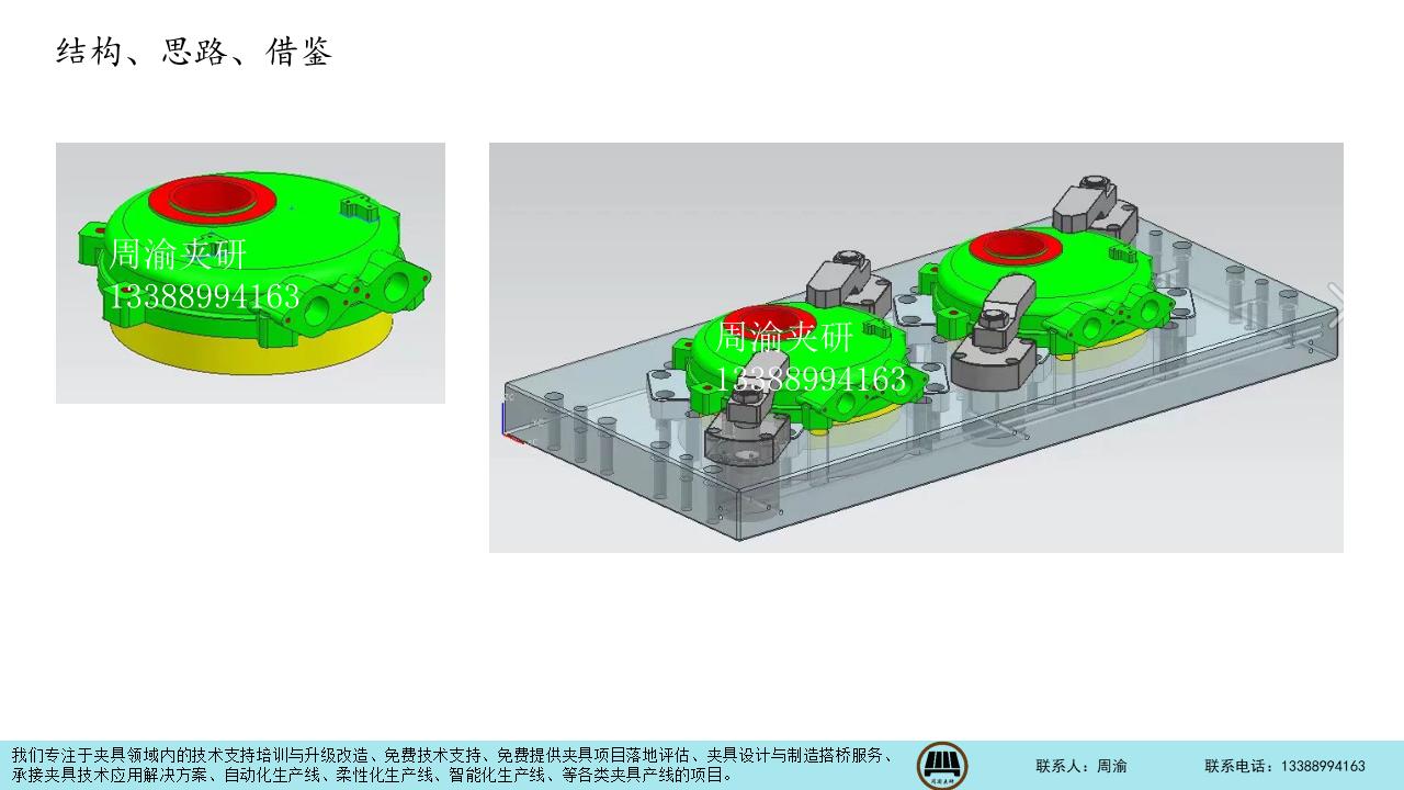[夹具案例分享]四轴铸件液压夹具