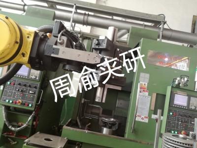 [自动化夹具案例分享]刹车盘CNC加工机床自动上下料机器人自动生产线  自动化生产线 自动化夹具 自动上下料 第2张