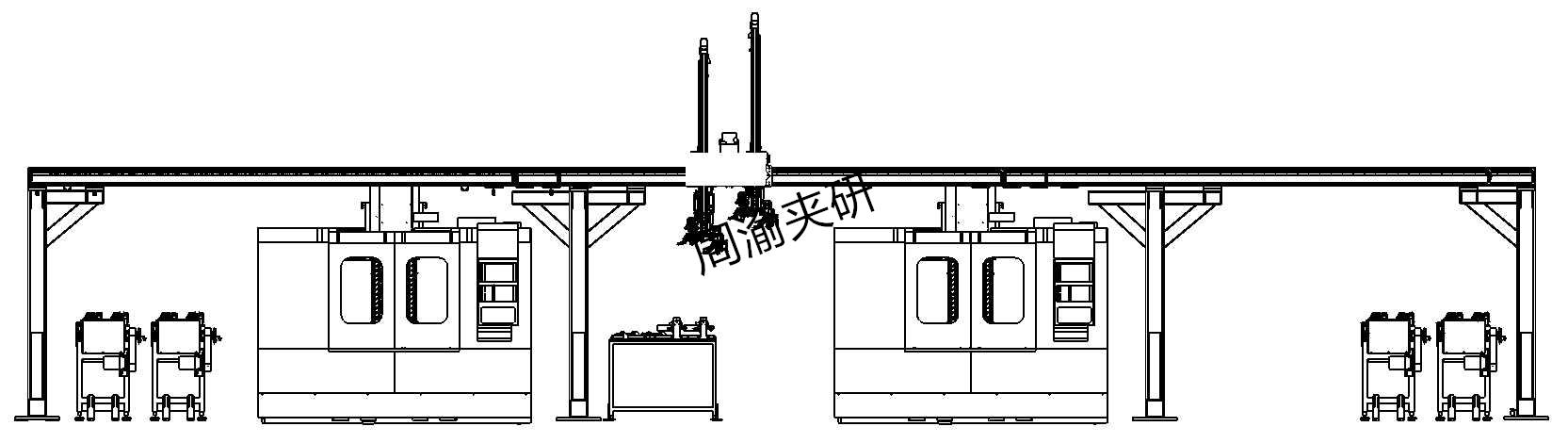 [自动化夹具案例分享]汽车后羊角转向节机械加工自动线项目概述  自动化生产线 自动化夹具 自动上下料 第6张