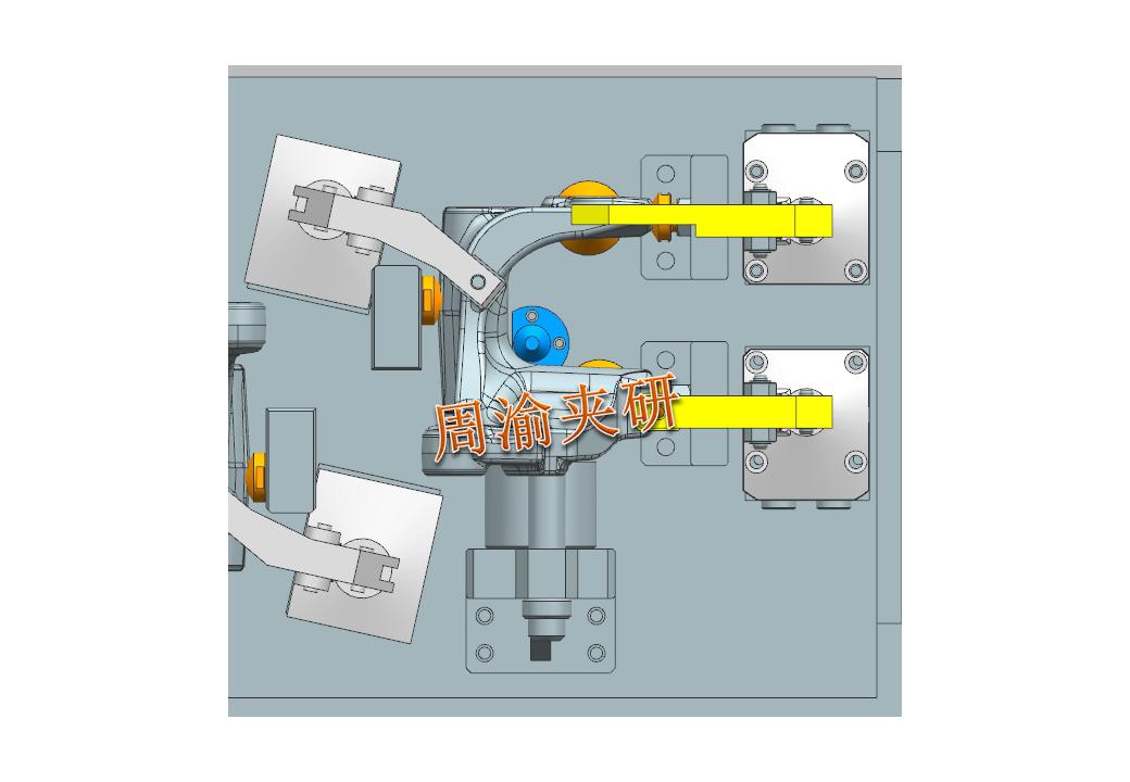[夹研外包设计案例]异形件夹具案例分享  四轴夹具 液压夹具 第6张