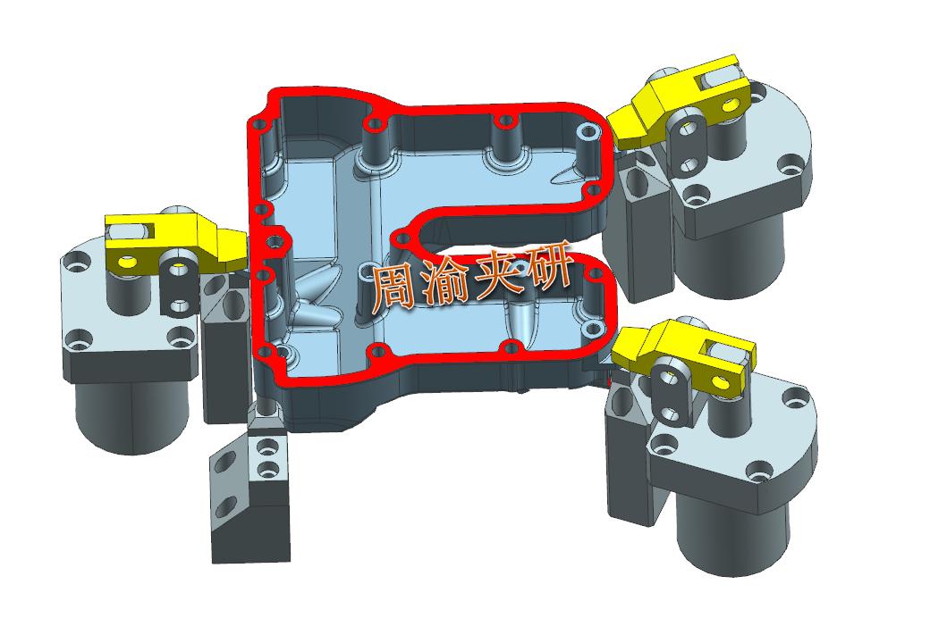 [案例分享]壳体夹具案例分享  液压夹具 立加夹具 多工位夹具 第6张