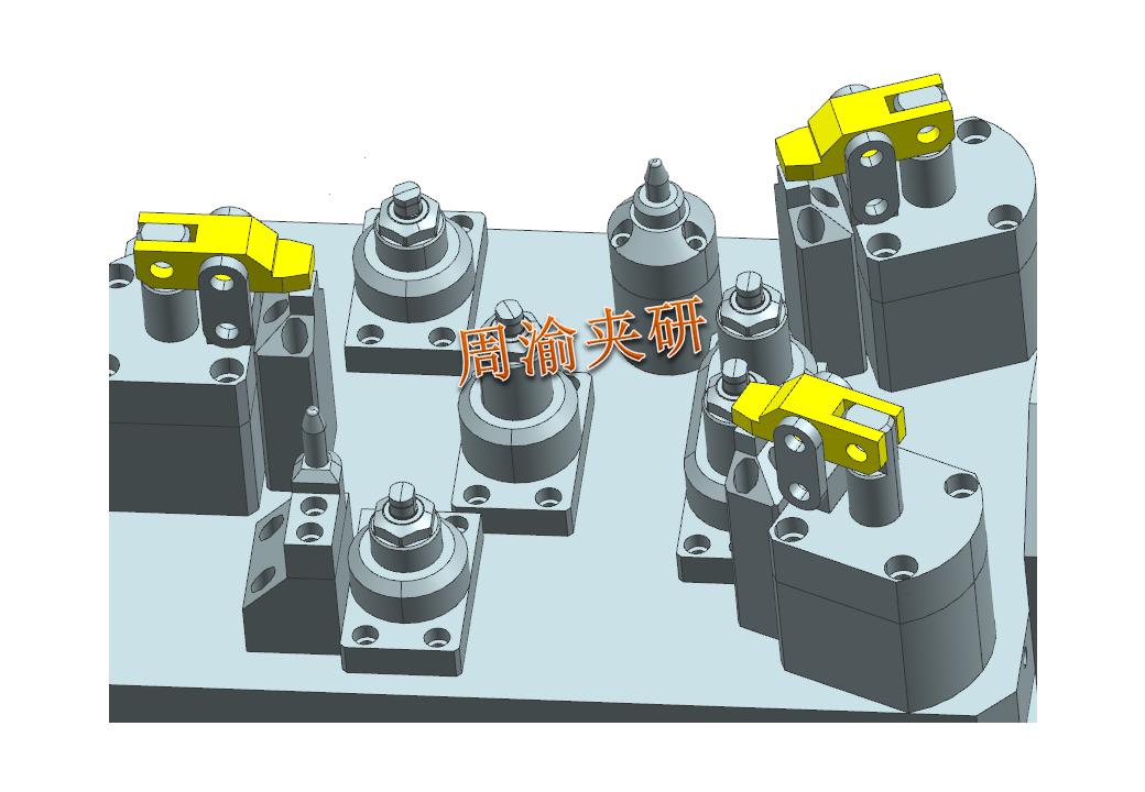 [案例分享]壳体夹具案例分享  液压夹具 立加夹具 多工位夹具 第7张