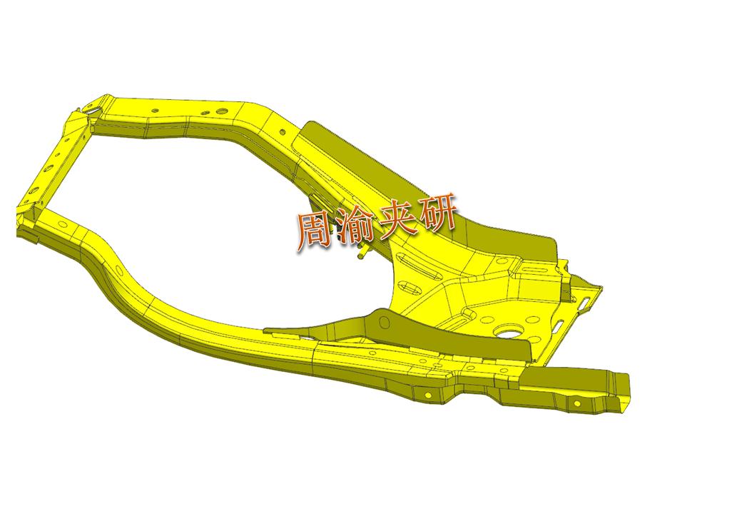 [夹研外包设计案例]壳体焊接夹具  焊接夹具 五轴夹具 第2张