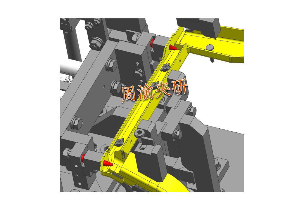 [夹研外包设计案例]壳体焊接夹具  焊接夹具 五轴夹具 第3张