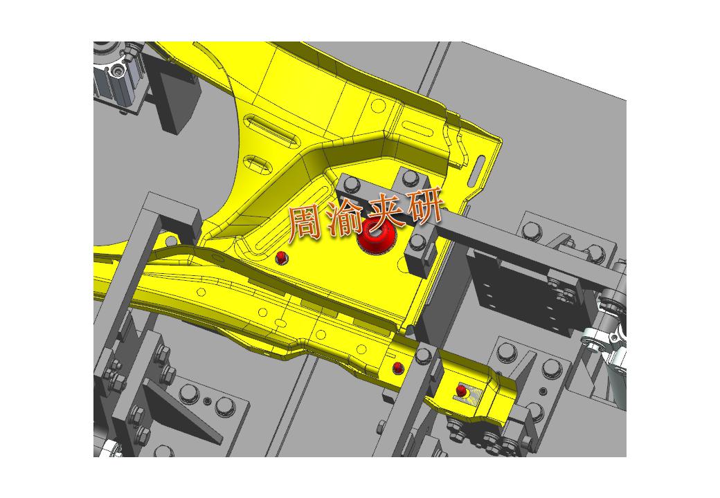 [夹研外包设计案例]壳体焊接夹具  焊接夹具 五轴夹具 第4张