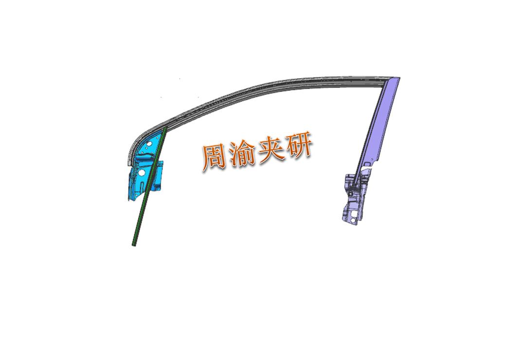 [夹研外包设计案例]车门焊接夹具  焊接夹具 气动夹具 第2张