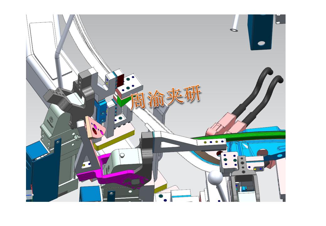 [夹研外包设计案例]车门焊接夹具  焊接夹具 气动夹具 第7张