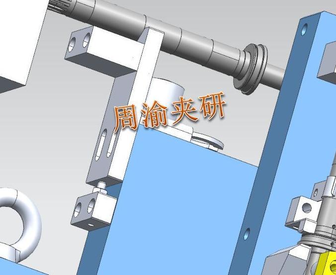 [案例分享]中间轴四轴液压夹具  液压夹具 四轴夹具 顶尖 第5张