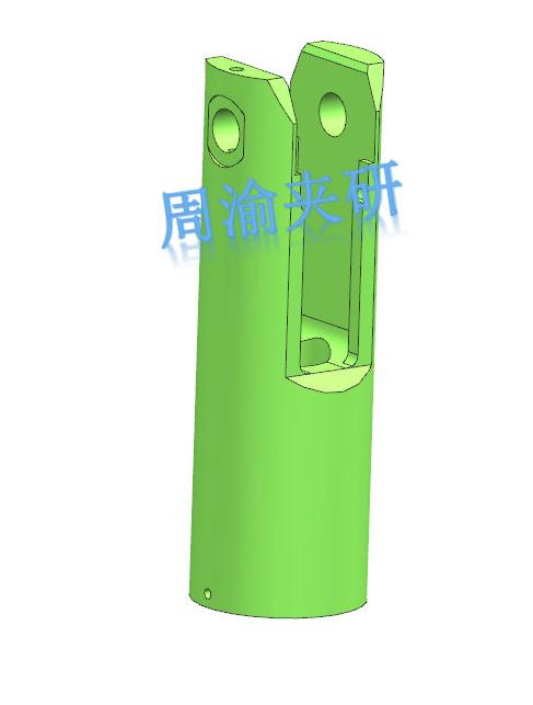 [夹研外包设计案例]节叉双工位气动夹具  气动夹具 四轴夹具 节叉加工 第2张