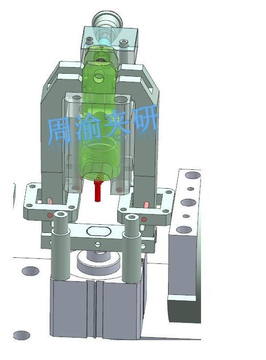 [夹研外包设计案例]节叉双工位气动夹具  气动夹具 四轴夹具 节叉加工 第6张