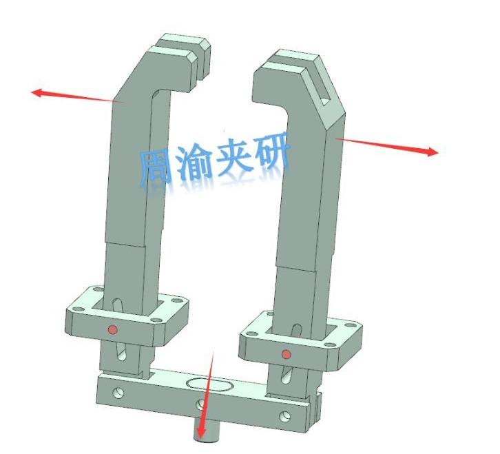 [夹研外包设计案例]节叉双工位气动夹具  气动夹具 四轴夹具 节叉加工 第7张