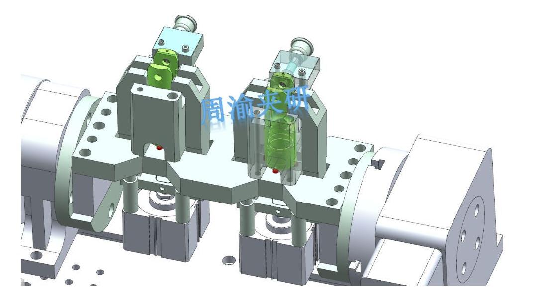 [夹研外包设计案例]节叉双工位气动夹具  气动夹具 四轴夹具 节叉加工 第8张