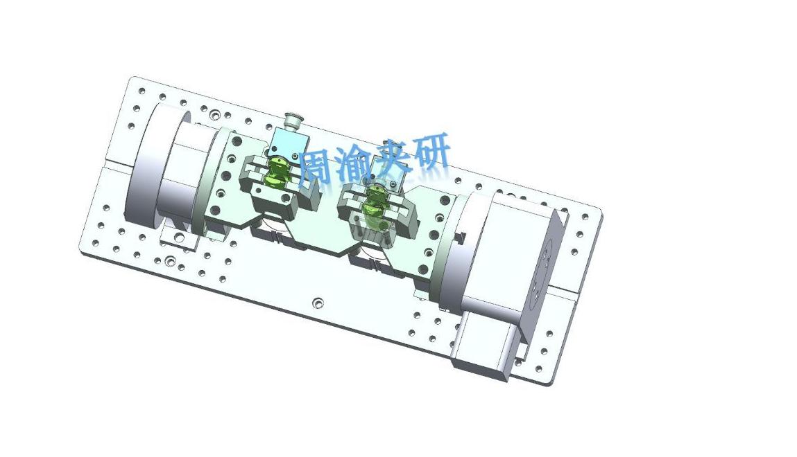 [夹研外包设计案例]节叉双工位气动夹具  气动夹具 四轴夹具 节叉加工 第10张