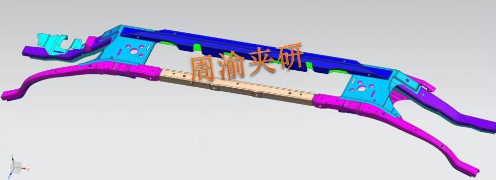 [夹研外包设计案例]壳体焊接夹具  焊接夹具 四轴焊接夹具 第2张