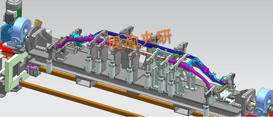 [夹研外包设计案例]壳体焊接夹具  焊接夹具 四轴焊接夹具 第7张