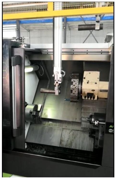 [自动化夹具案例分享]汽车空调压缩机轴加工车床机械  自动化生产线 自动化夹具 自动上下料 第10张