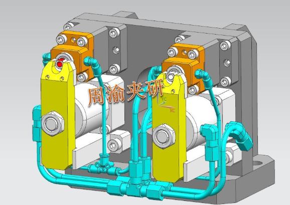 [夹具案例分享]轴类卧加液压夹具  卧加夹具 液压夹具 轴类加工 第7张