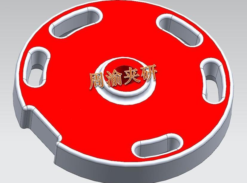 [夹具案例]盘类立加液压夹具  卡盘 液压夹具 立加夹具 第2张