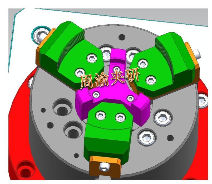 [夹具案例]盘类立加液压夹具  卡盘 液压夹具 立加夹具 第3张