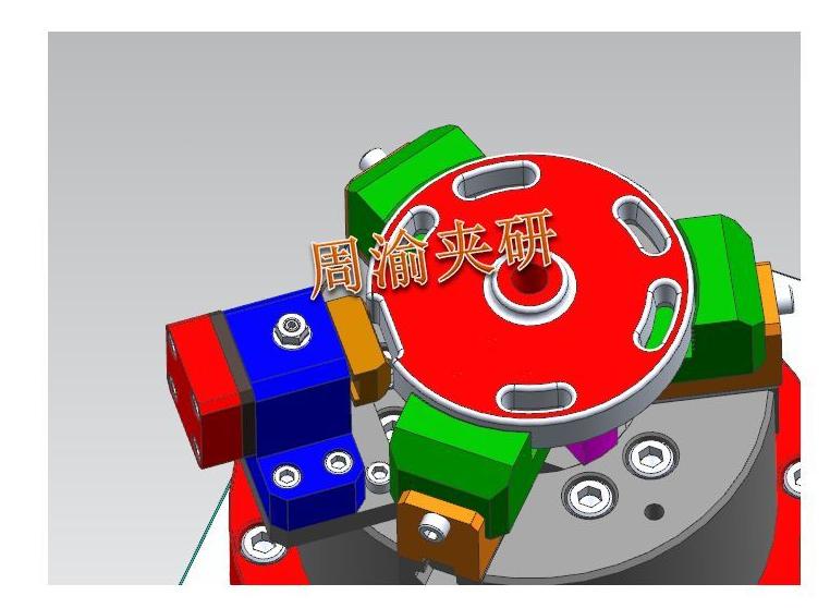 [夹具案例]盘类立加液压夹具  卡盘 液压夹具 立加夹具 第4张