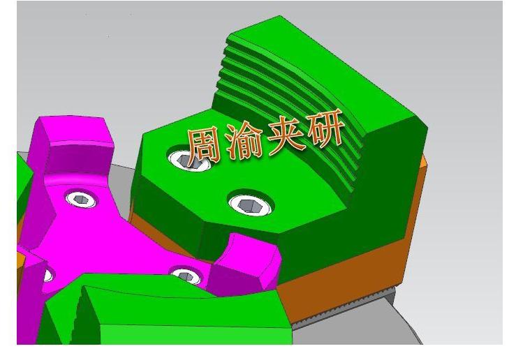 [夹具案例]盘类立加液压夹具  卡盘 液压夹具 立加夹具 第5张
