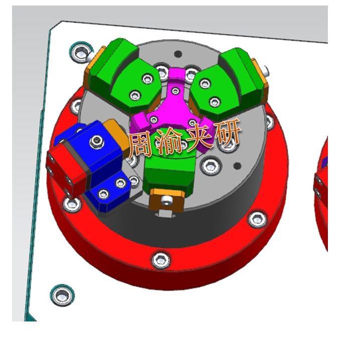 [夹具案例]盘类立加液压夹具  卡盘 液压夹具 立加夹具 第6张