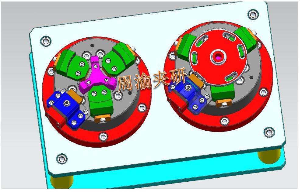 [夹具案例]盘类立加液压夹具  卡盘 液压夹具 立加夹具 第8张