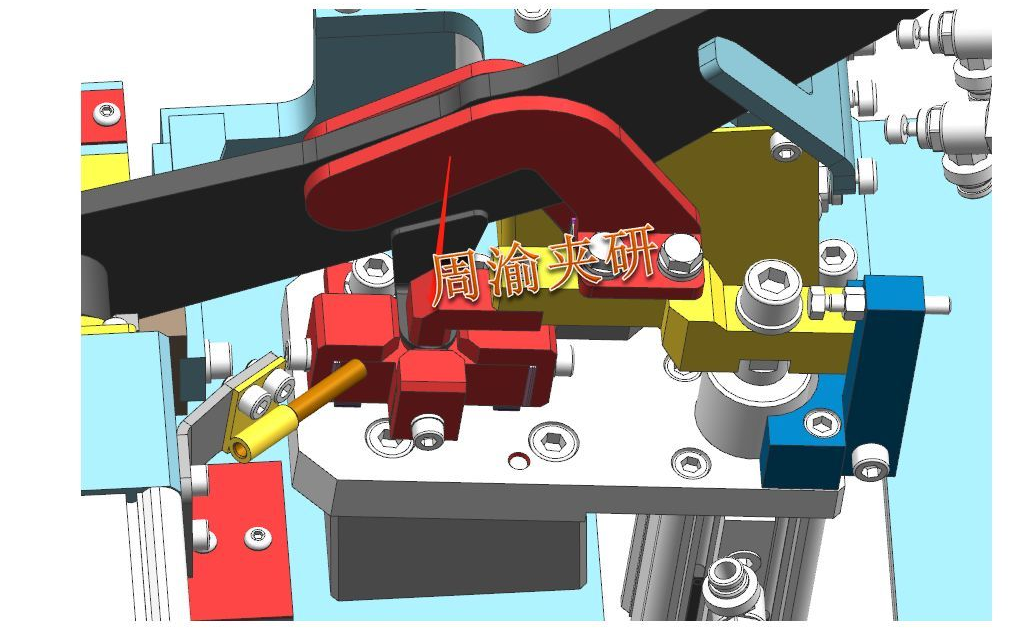 [夹研外包设计案例]定点焊接夹具  焊接夹具 定点焊接夹具 第4张