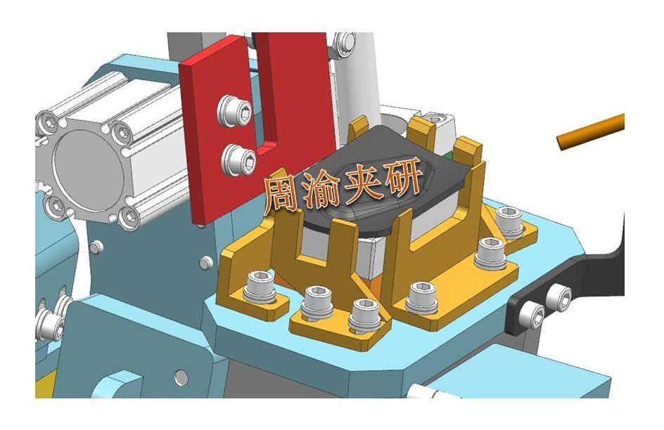 [夹研外包设计案例]定点焊接夹具  焊接夹具 定点焊接夹具 第5张