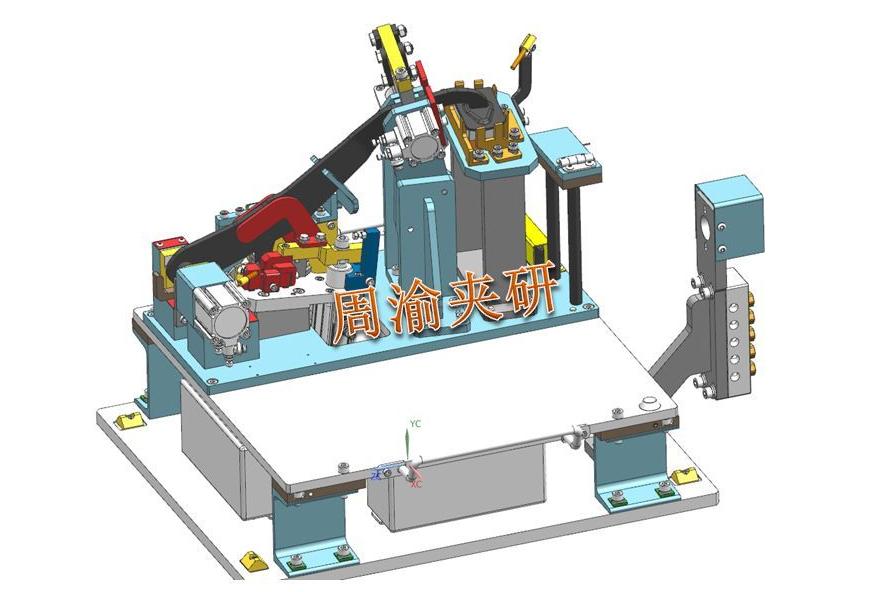 [夹研外包设计案例]定点焊接夹具  焊接夹具 定点焊接夹具 第7张