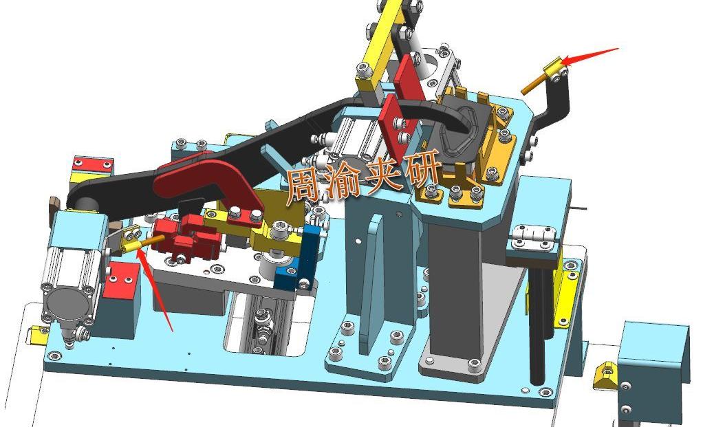 [夹研外包设计案例]定点焊接夹具  焊接夹具 定点焊接夹具 第8张