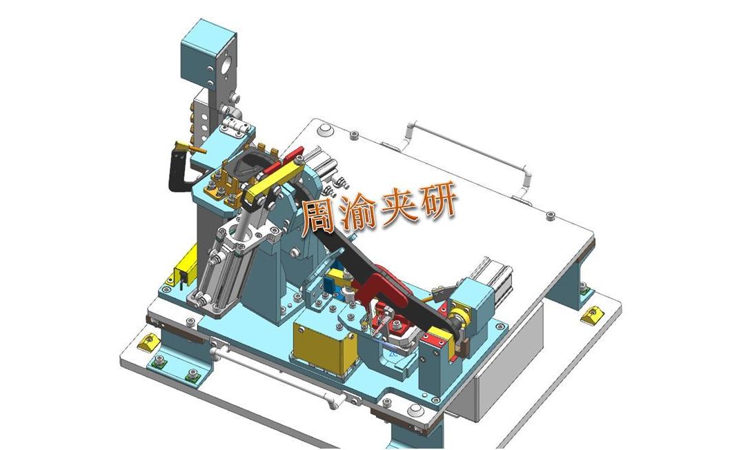 [夹研外包设计案例]定点焊接夹具  焊接夹具 定点焊接夹具 第9张