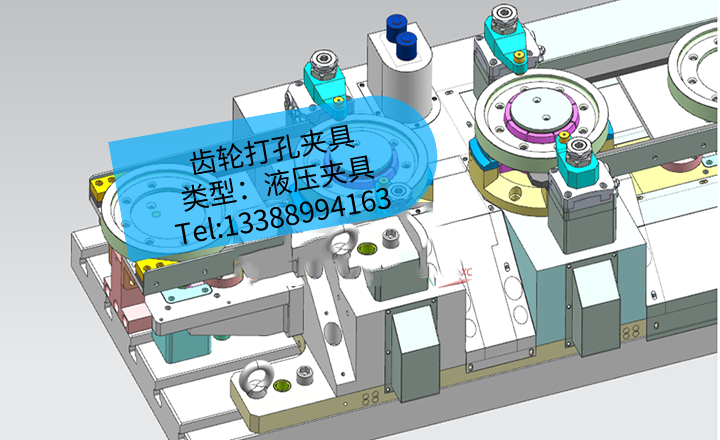 [夹研外包设计案例]齿轮打孔夹具
